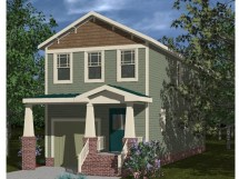 Craftsman Style Narrow Lot House Plans