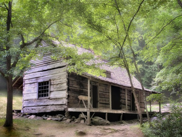 Rustic Cabin Smoky Mountains Secluded Mountain