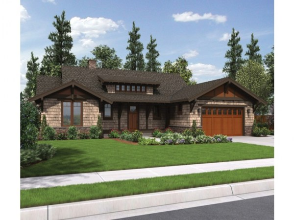 Craftsman Ranch House Plans With 3 Car Garage Turning