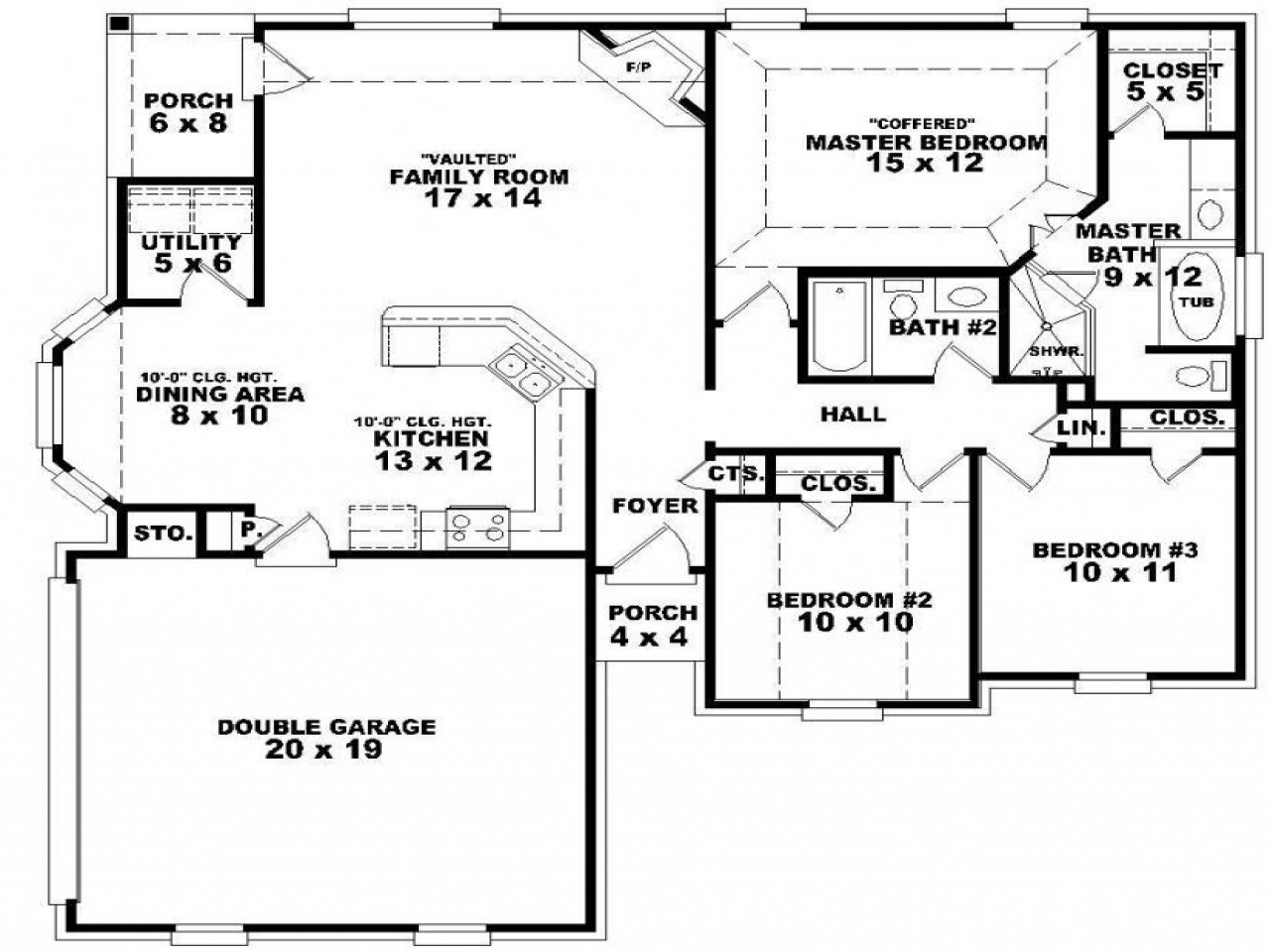 5 Bedroom Single Story House Plans Master Bedroom 4 Bedroom One Story House Plans