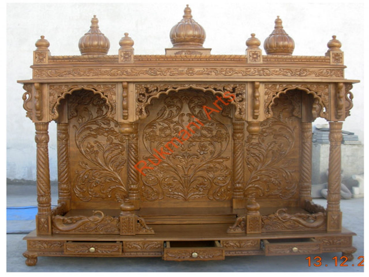 Designs Temple Indian Conncrit Home Temple Design wooden home designs  Treesranchcom