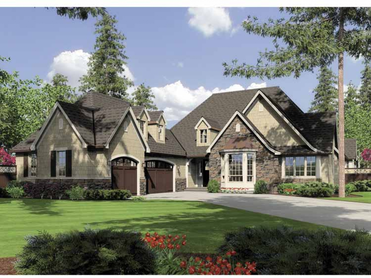 French Countryside English Countryside One Story Home One Story Country House Plans