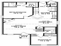 Simple 2 Bedroom House Floor Plans Small Two Bedroom House ...