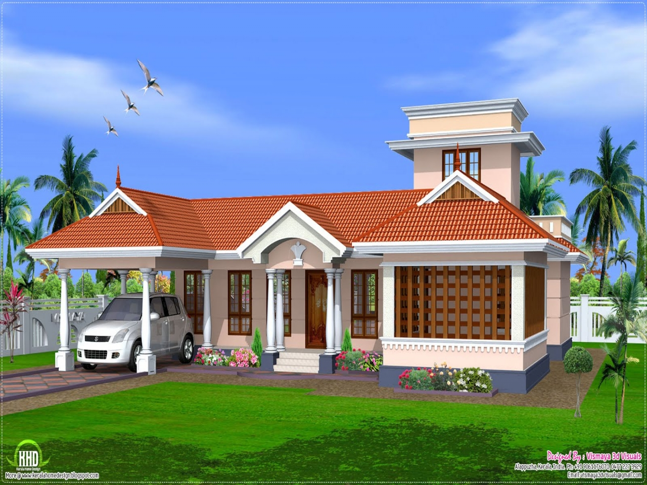 Kerala Single Floor House Front Design Vtwctr