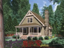 Cottage House Plans With Porches Cabin