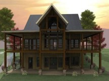 Lakefront House Plans with Walkout Basement