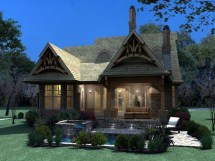 Craftsman Bungalow Cottage House Plan Tuscan