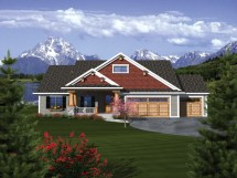 Craftsman Ranch House Plans with 3 Car Garage