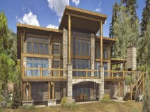 Hybrid Timber Log Home Plans Mountain