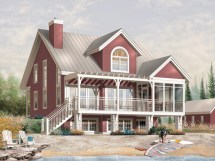 Small Lakefront Home Plans Waterfront Design