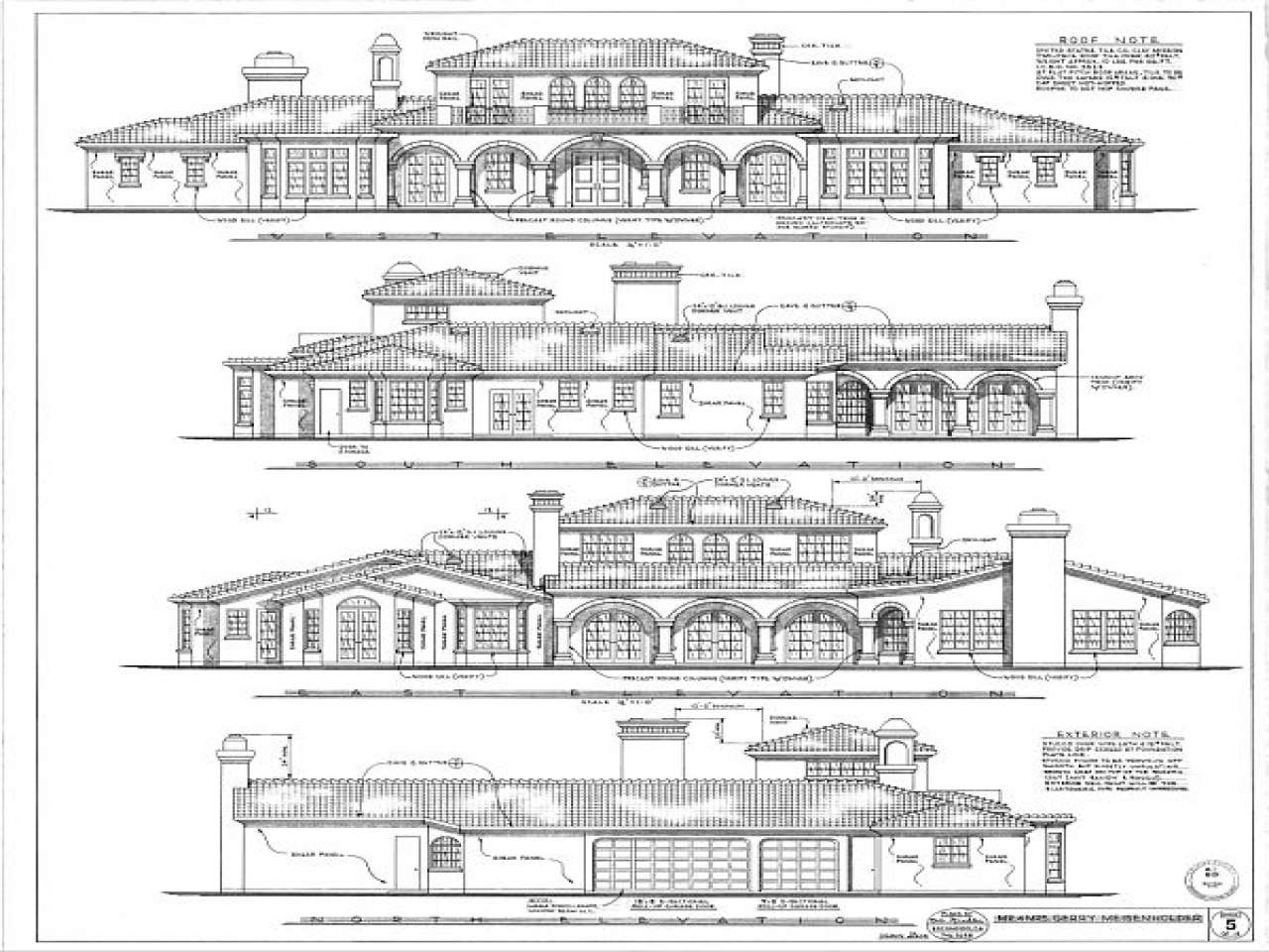 Architecture Drawings Plan Elevation Drawing House Plan