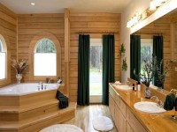 Log Home Master Bathrooms Rustic Master Bathroom, log home ...