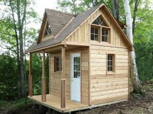 Small Cabin Plans With Loft Kits Inexpensive