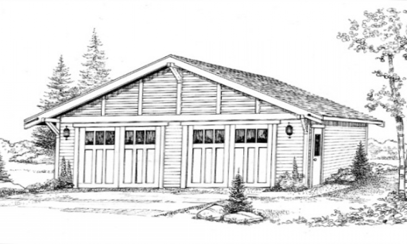 Craftsman Bungalow Garage Plans Detached Garage Craftsman