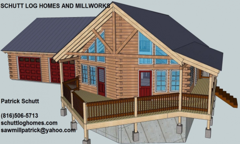 Log Garage with Apartment Plans Log Cabin Garage Apartment