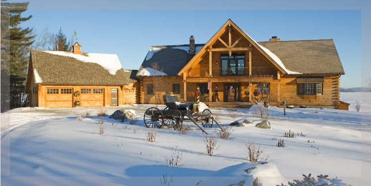 Ranch style log homes by Treetop Log Homes in Michigan Indiana Ohio and Illinois