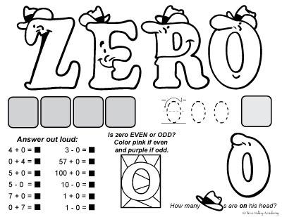 Number Zero Worksheet For Preschoolers