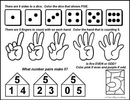 Number Bonds to 5 Free Math Worksheets