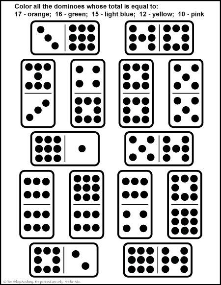 Number Bonds to 17 Free Math Worksheets