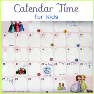 Daily Calendar Time for Kids - Fun and simple way to teach kids to read a calendar.