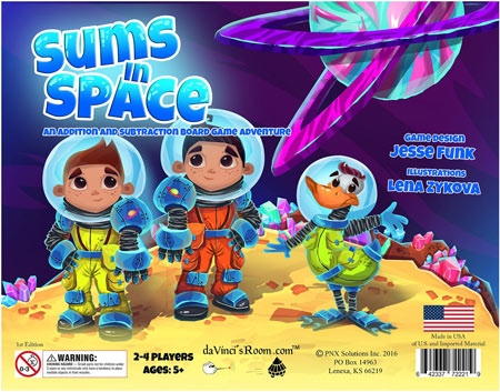 Sums In Space - An Addition & Subtraction Game.
