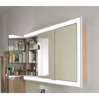 Einbau Spiegelschrank 132 cm 3 türig mit LED Leuchtkranz ...