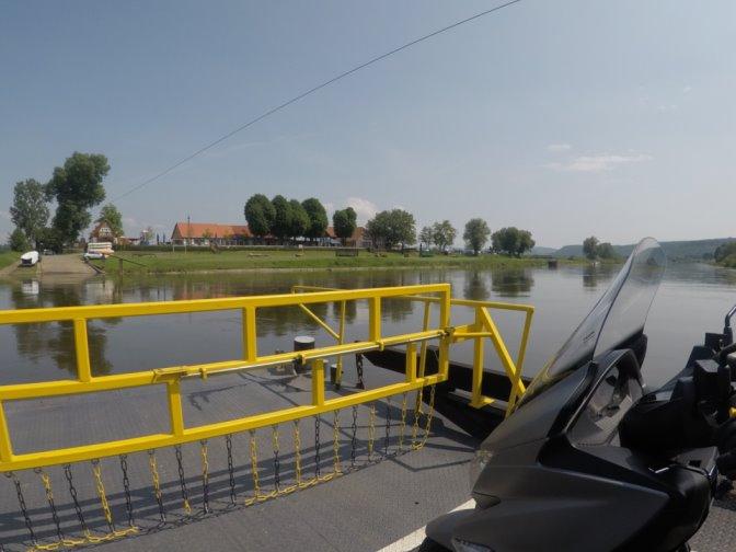 Auf der Fähre über die Weser