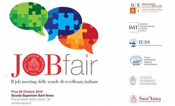 Job Fair – 28 Ottobre 2016 dalle 10.00 – Scuola Superiore Sant'Anna di Pisa