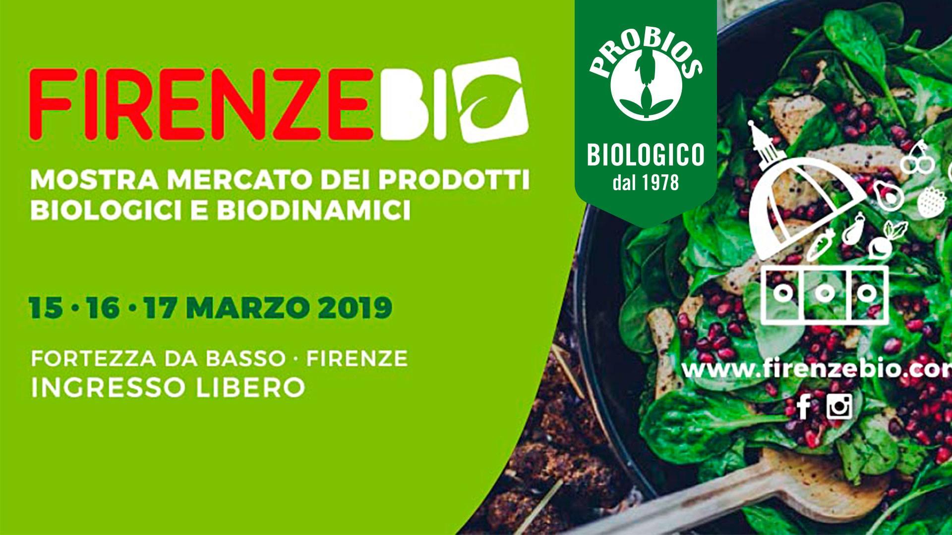 PROBIOS RITORNA A FIRENZE BIO 2019