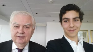 A Selfie of Me with Lord Lamont