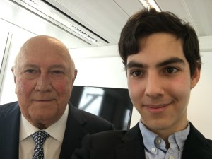 A Selfie of Me with Mr de Klerk