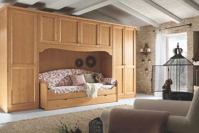 Armadio a ponte con divano letto  Arredamento classico