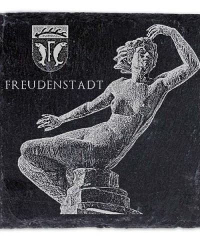 Schieferplatte Untersetzer mit Gravur Wahrzeichen FDS