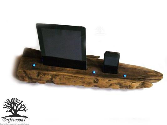 Dual Treibholz Dockingstaion für iPad und iPhone