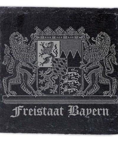 Schieferplatte Untersetzer mit Gravur Bayern