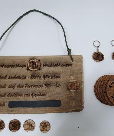 Treibholz-Schild