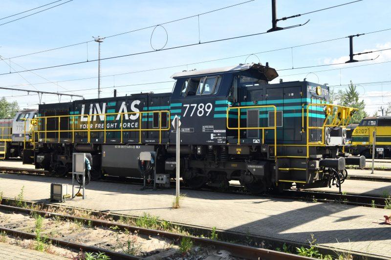 Lineas shunting locomotive ATO Copyright Lineas