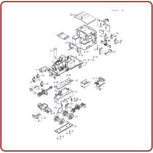 Locomotief onderdelen
