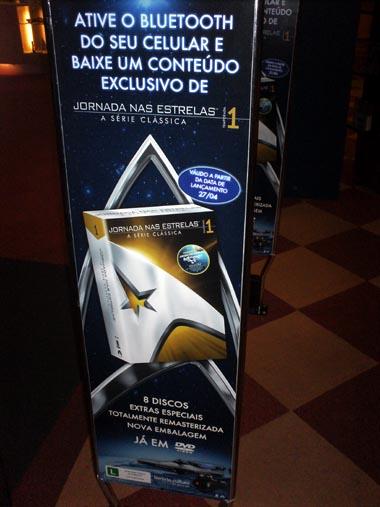 Em época de Jornada em alta, Livraria Cultura também tem propagandas espalhadas. Há tempos que Star Trek nunca esteve tanto em evidência!