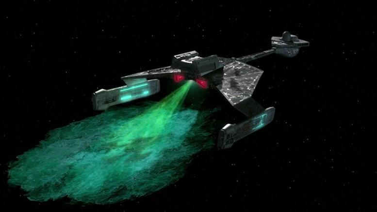 Nave Xyrilliana camuflada em nave klingon