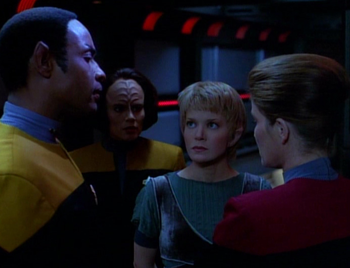 Tuvok, B'Elanna, Kes e Janeway