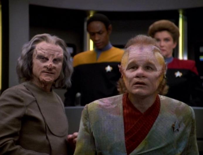 Jetrel, Neelix, Tuvok e Janeway
