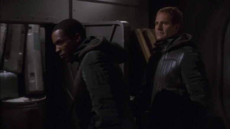 Mayweather e Archer na nave de Menos