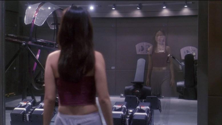 Hoshi na sala de ginástica desaparecendo