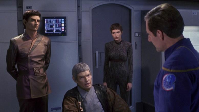Soval, T'Pol e Archer