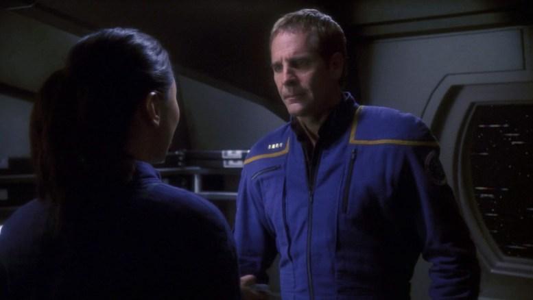 Hoshi contando a Archer o que Tarquin falou sobre os Xindi