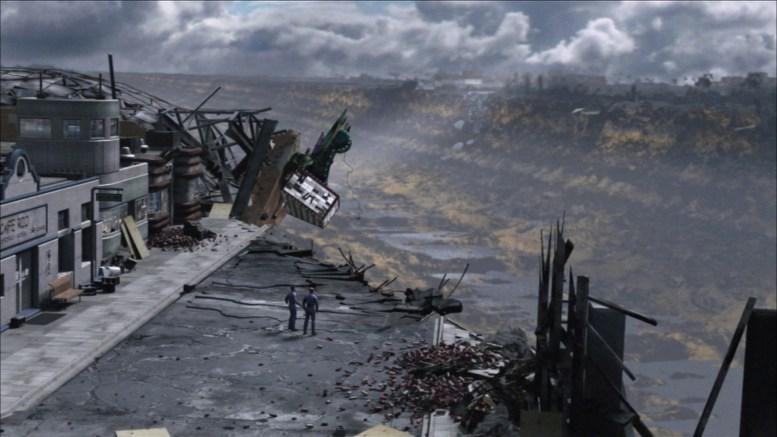 Tucker e Reed observando destruição da sonda xindi