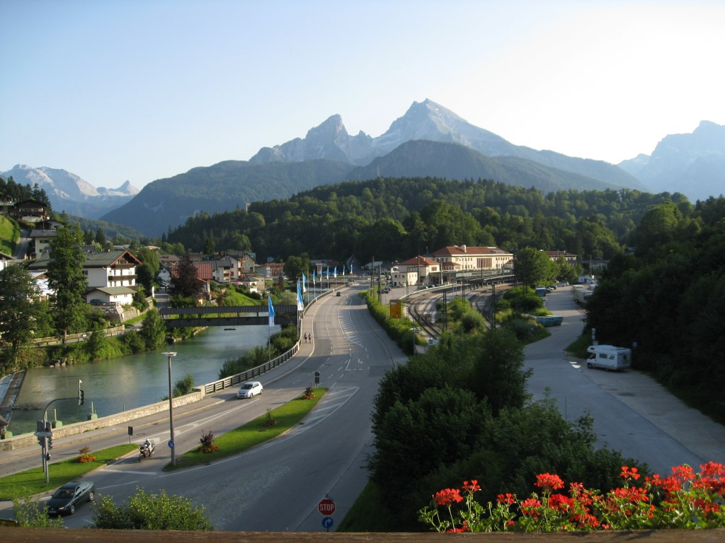 Berchtesgaden: View from our balcony towards Mount Watzmann