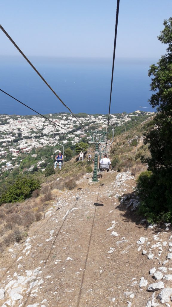 Chairlift to Mount Solaro