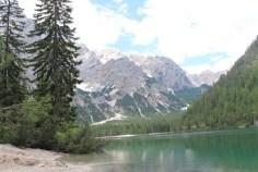 Il Lago di Braies con la Croda del becco